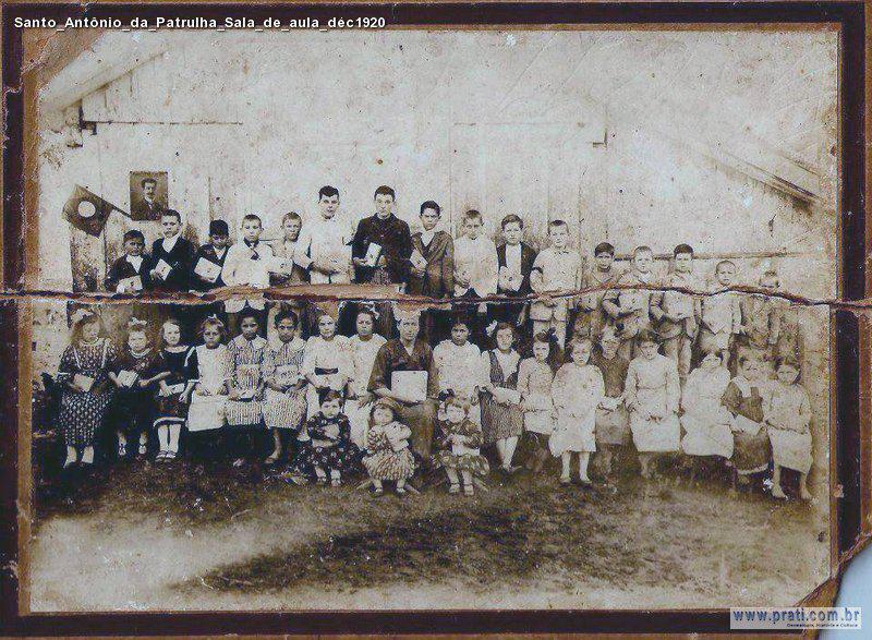 Una clase en 1920